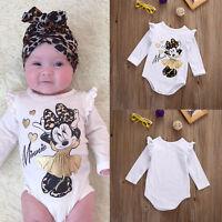 Newborn Baby Girl Minnie Mouse Romper Jumpsuit Bodysuit Outfit Set Clothes 0-18M