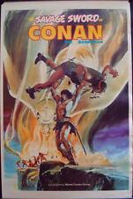 SAVAGE SWORD OF CONAN MARVEL poster 1974 NEAL ADAMS VINTAGE 23x35