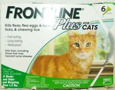 Frontline Plus for Cats 1.5 lbs + Over Kills Fleas Ticks Lice + Eggs - 6 Doses