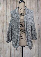 Zara Knit Cardigan Open Front Silver Metallic Gray Sweater Size M Medium Womens