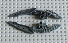 LEGO TECHNIC BIONICLE PEARL LIGHT GREY WEAPON DOUBLE BLADE X 2 - PARTS REF 44813