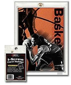 Lot/ 3 BCW 1-Screw Standard 20pt Card Holders Screwdown