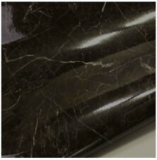 Black Granite Look Marble Effect Counter Top Self Adhesive Vinyl Contact Paper2M