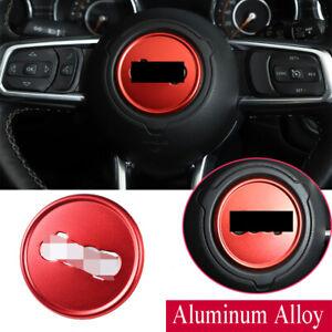 Alloy Red Steering Wheel Ring Trim Fit For Jeep Wrangler JL JT Gladiator 2018-21