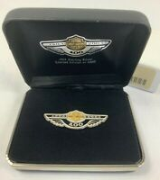 Harley Davidson 100th Anniversary Sterling Silver Gold Logo Pin 3260 of 5000