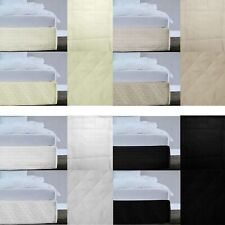 4 Color Choice Microfiber Quilted Bedskirt / Valance 33cm Drop - QUEEN