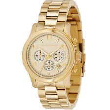 New Michael Kors Runway Gold Stainless Steel Chronograph MK5055 Women Watch