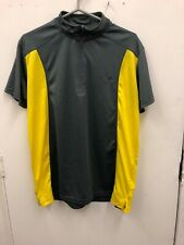 Crivit Outdoor Sports Gym Running Short Sleeves YELLOW GREEN Top Size XL