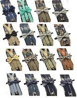 Wedding Accessories Formal Wear Men & Women bow tie and suspender Matching Set