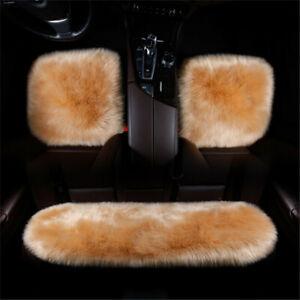 3pcs/set Car Seat Cover Deluxe Soft Modern Faux Sheepskin  Cushion Universal Fit