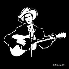 HANK WILLIAMS with Guitar Classic Country Western Music Vinyl Decal Sticker