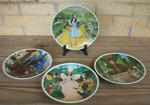 Set of 4 Wizard of Oz  Knowles 1979 Collector Plates~Dorothy,Witch,Glinda,Prof.