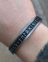 Viking Bracelet Men Cuff Handmade Nordic Rune Bangle Pagan Celtic Steel Norse