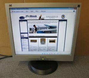 """ViewSonic VA703M 17"""" Silver Led Backlit LCD TFT Computer Screen Monitor VGA"""