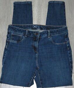 Womens🦋NEXT🦋blue stretch 360 skinny denim jeans size 14L