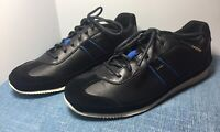 New in Box Paul Smith Fuzz Black Mono Lux Leather Trainer Sneakers MSRP $315