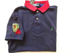New Ralph Lauren Polo Custom Fit 100% Cotton Navy Indian Patch Summer Shirt S