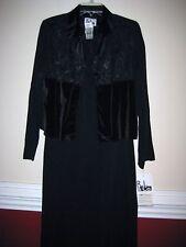 NWT  R.J. & Co  2 pc Black Sleeveless Dress with Jacket Sz 8