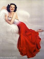 1940s Pin-Up Adorable Girl in Red Picture Poster Print Art Vintage Pin Up