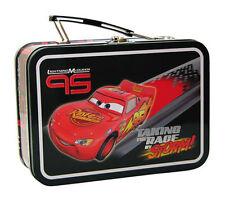 Disney Pixar Cars Lightning Mcqueen 95 Metal Tin Lunch Box Carry All Case NEW
