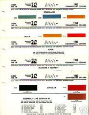 1963 TRUCK PAINT CHIPS DIAMOND T MACK REO WILLYS