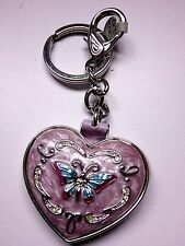 Lovely Decorated Heart  Mirror Keyring. Mothers Day Gift? Brand New