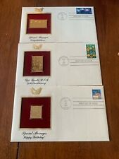 1987 Gold Stamp Replicas Girl Scouts Happy Birthday Congratulations