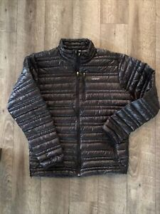 Patagonia Mens Ultralight Down Jacket Lightweight Packable Full Zip Black Size M