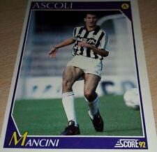 CARD SCORE 1992 ASCOLI MANCINI CALCIO FOOTBALL SOCCER ALBUM
