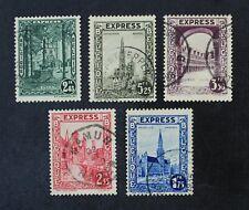 CKStamps: Belgium Stamps Collection Scott#E1-E5 Used