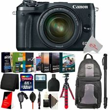 Canon EOS M6 Mirrorless Camera Black with 18-150mm + Essential Accessory Kit