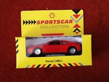 ORIGINAL BOXED SHELL PETROL SPORTSCAR COLLECTION CAR RED FERRARI 348TS 348 TS