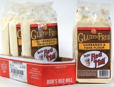 4 Bags Bob's Red Mill 22 Oz Gluten Wheat & Dairy Free Garbanzo & Fava Flour