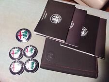 Pack badges emblèmes de roue ALFA ROMEO + carnet GIULIA