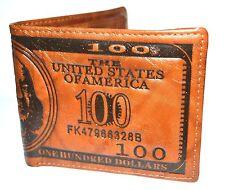 Men's USA Dollar Wallet Brown PU Leather Wallet Bifold Credit Card Money. 0109
