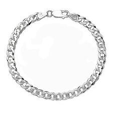 """8"""" Solid Italian .925 Sterling Silver 5mm Curb Chain Bracelet Men's Women's Gift"""