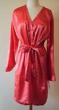 Chanteuse Intimates Light Orange Satin Robe Size X-Large