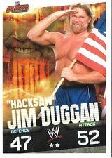 "SLAM ATTAX<>""HACKSAW"" JIM DUGGAN<>RAW<>TOPPS<>TRADING CARD<>wrestling"