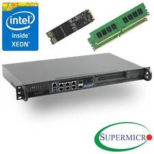 Supermicro SuperServer 5018D-FN8T Xeon D 1U Rackmount,10GbE,SFP+,32GB, 256GB M.2