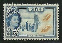 Album Treasures Fiji Scott # 160 5sh Elizabeth Gold Industry Mint LH