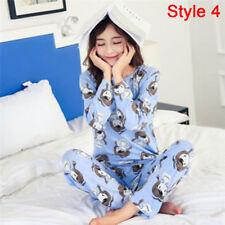 Women Pajamas Sets Long Sleeve Lovely Cartoon Sleepwear Girls Nightgown Suits O XL 5