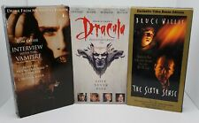 New ListingLot Of (3) Horror Movies: The Sixth Sense/Dracula/Interview With The Vampire Vhs