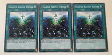 3 x MONSTER REBORN REBORN FLOD-EN066 - 1st Edition YuGiOh NEW