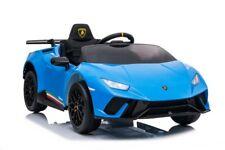 Kinder Elektro Auto Lamborghini Huracan blau, EVA, Leder etc.! Neu & Ovp!!