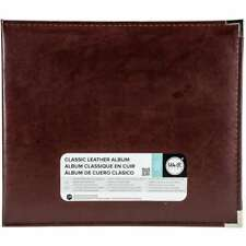 """We R Memory Keepers 660912 Classic Leather D-Ring Album 12""""X12"""", Cinnamon"""