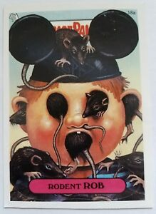 GARBAGE PAIL KIDS 18A RODENT ROB STICKER CARD WITH PUZZLE PIECE GPK-40
