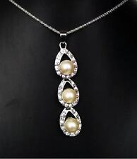 Pearl Crystal Alloy Beauty Costume Necklaces & Pendants