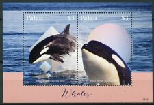 Palau 2018 MNH Whales Killer Whale Orca 2v S/S Marine Animals Stamps