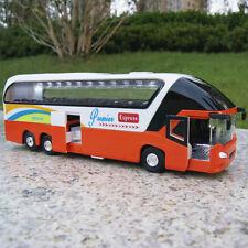 Tour Bus 1/32 New York Sound&Light Sightseeing Diecast Model Car Toy Orange Gift