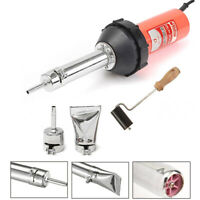 1080W Plastic Welder Hot Air Welding Gun Heat Torch + 2 Speed Nozzle & Roller